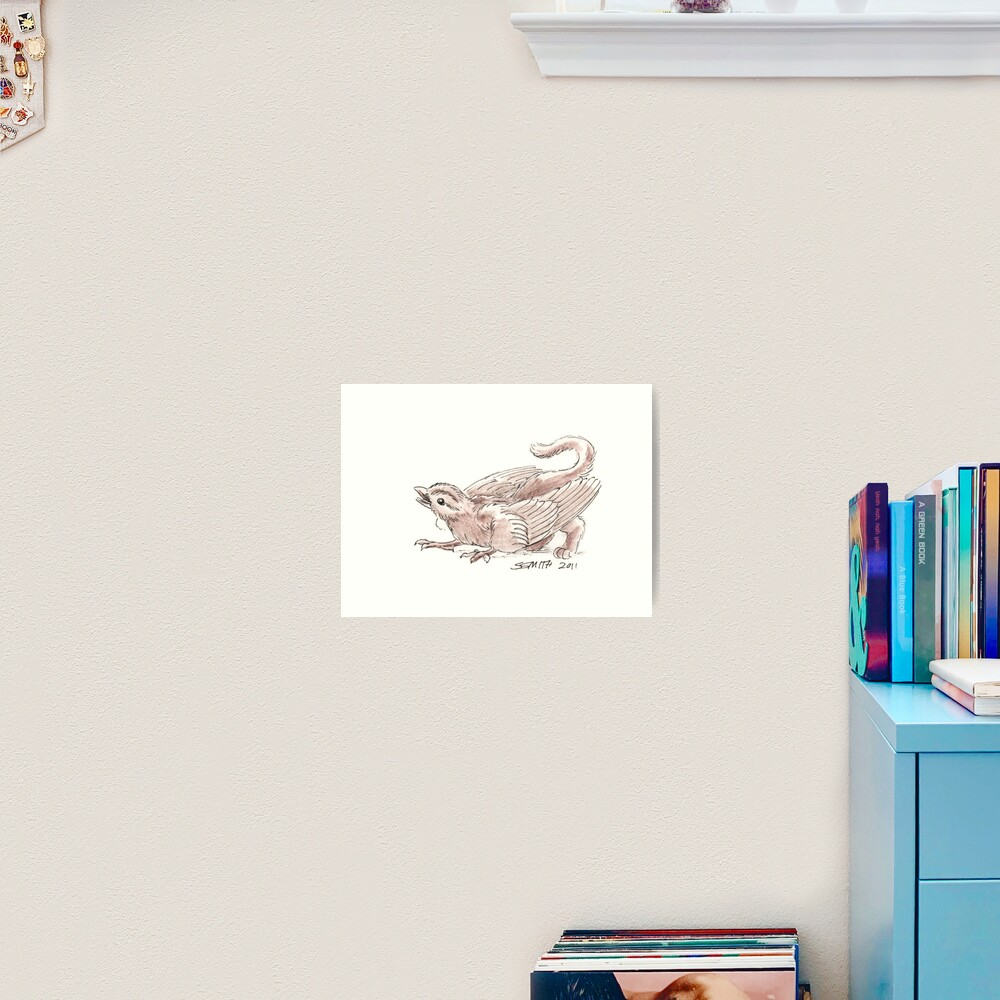 Sketch -- Mythological House Griffin, Sparrow variety Art Print