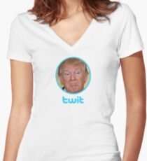 Twit Fitted V-Neck T-Shirt