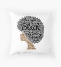 Black Woman Natural Hair Words In Afro Floor Pillow