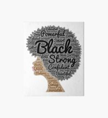 Black Woman Natural Hair Words In Afro Art Board Print