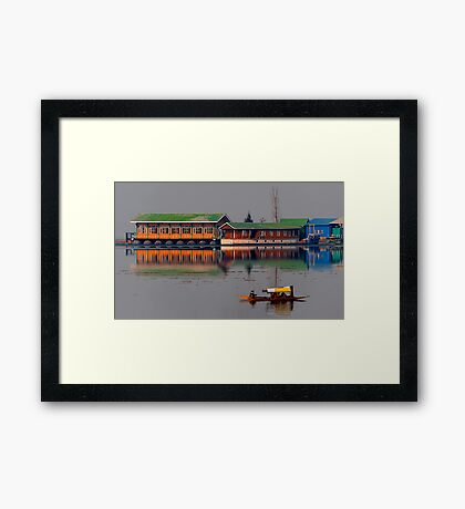 Reflection of Colors and Dal Lake Framed Print