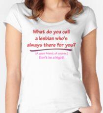 BIGOT:  LESBIAN FRIEND Women's Fitted Scoop T-Shirt