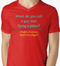 BIGOT:  GAY PILOT Mens V-Neck T-Shirt