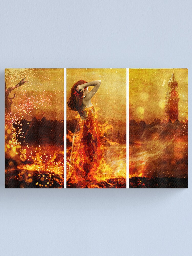 Alternate view of Fire Canvas Print