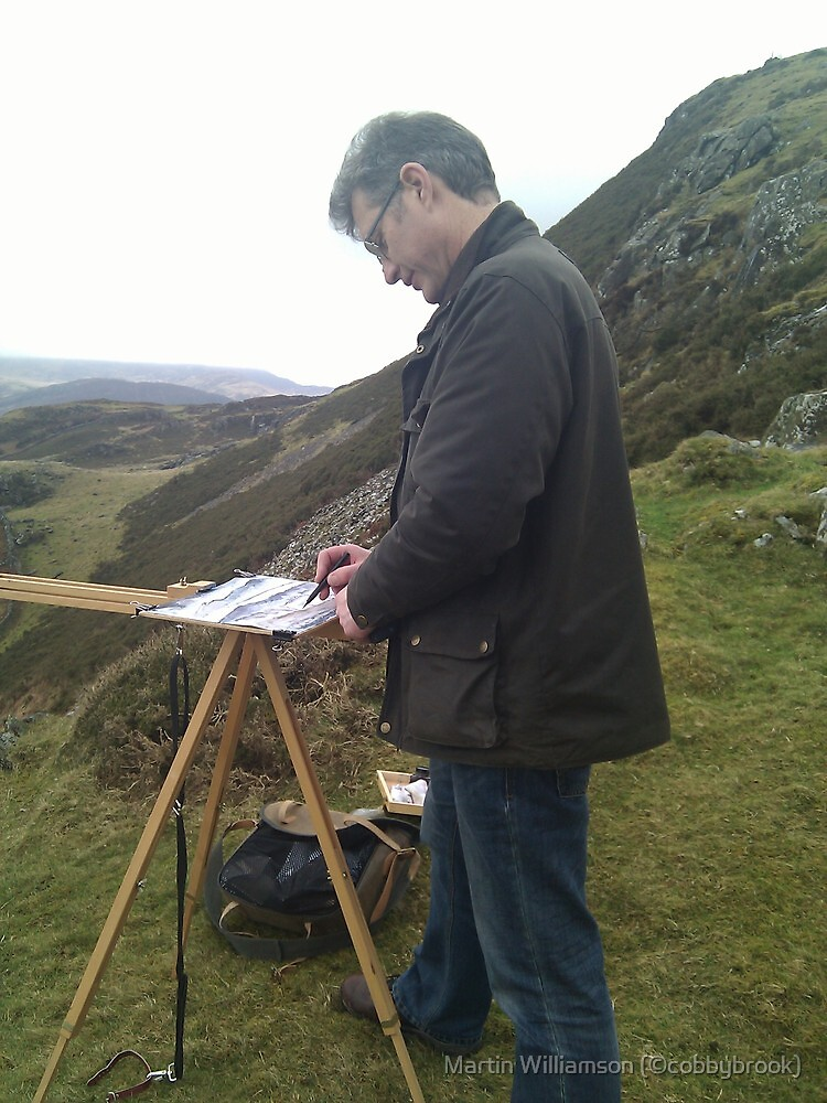 Painting on location, Wales (2) by Martin Williamson (©cobbybrook)