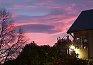Dawn clouds from YHA Rolleston, Christchurch NZ by Odille Esmonde-Morgan
