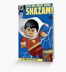 Lego Shazam! Greeting Card