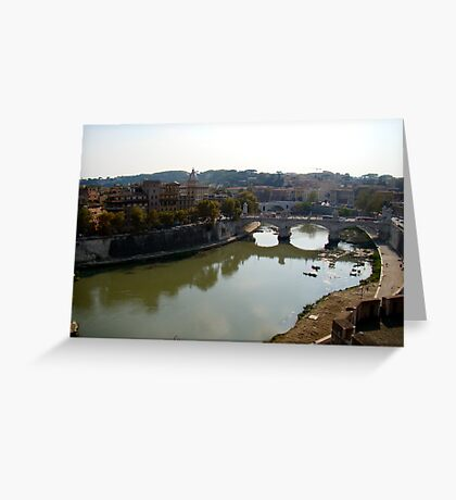 Just Around the River Bend Greeting Card