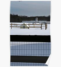 farm through fence Poster