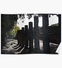 Ruined collonade - Pompei Poster