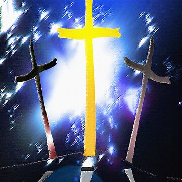 Three Crosses At Calvary by DwCCreations