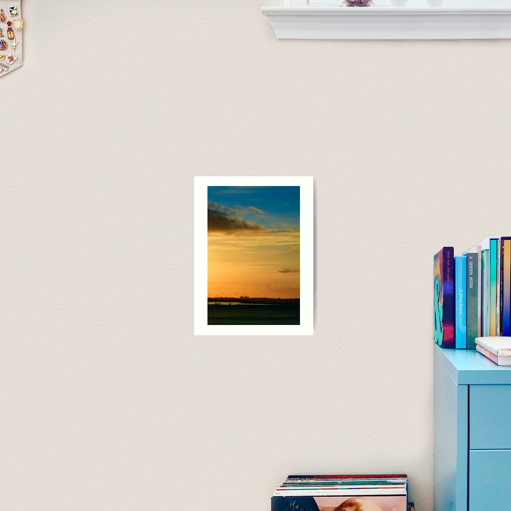 Aldeburgh sunset Art Print