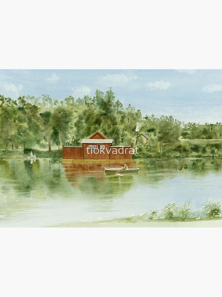 Bathhouse, Lötsjön, Sundbyberg, Sweden by tiokvadrat