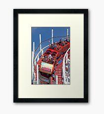 Wooden Roller Coaster (Santa Cruz, California) Framed Print
