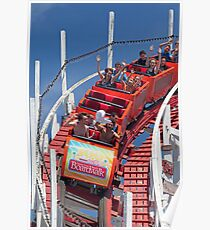 Wooden Roller Coaster (Santa Cruz, California) Poster