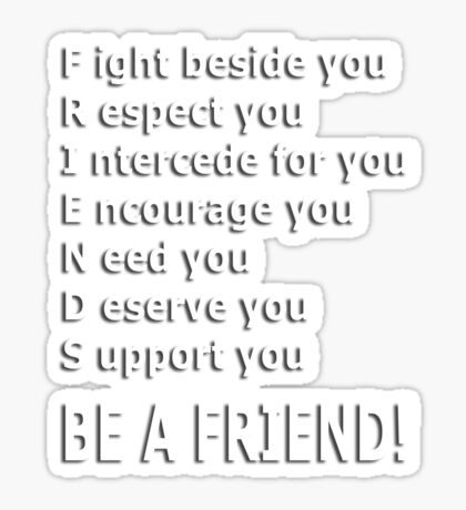 friends acrostic t Sticker