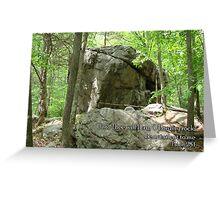 O Lord my rock Greeting Card