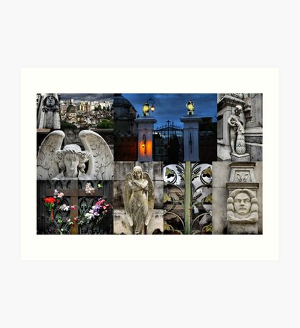 Recoleta cemetry Art Print