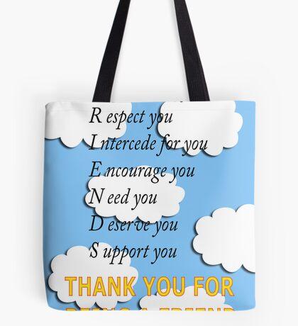 friends acrostic Tote Bag