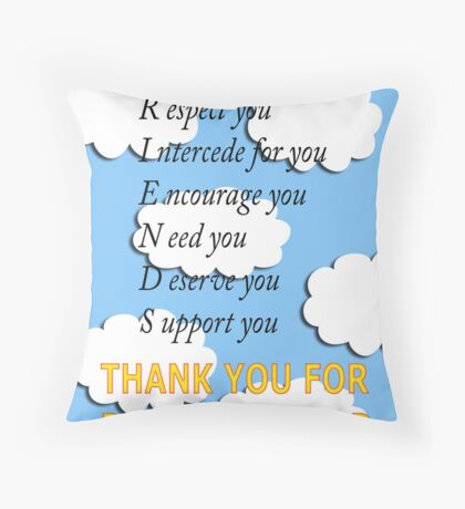 friends acrostic Throw Pillow