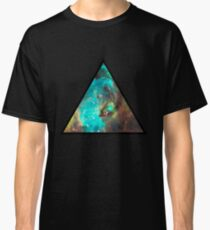 Green Galaxy Triangle Classic T-Shirt