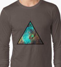 Green Galaxy Triangle T-Shirt