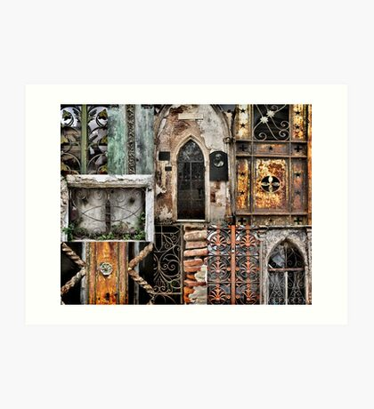 Textures of Recoleta Art Print