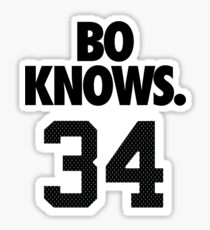 Bo Knows. 34 Sticker
