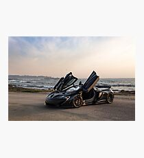 Siniser McLaren P1: Wings Up Photographic Print