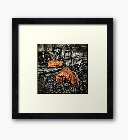 End of the Road Framed Print