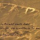 My love written in the sand on Valentine's Day by Owed To Nature