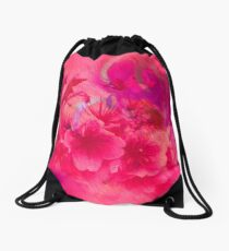 PINK PINK PINK FLOWERS Drawstring Bag
