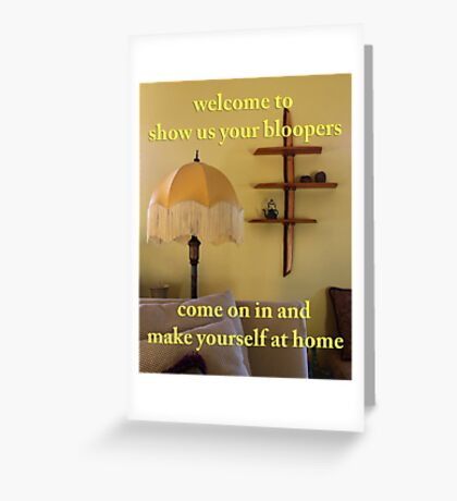 welcome banner Greeting Card