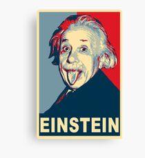 Lienzo Albert Einstein Portrait pulling tongue Campaign Design