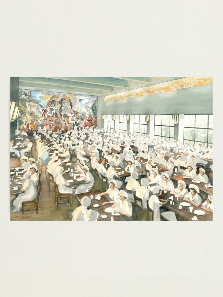 Alternate view of The Marabou Staff Dining Hall, Sundbyberg, Sweden, circa 1940 Photographic Print