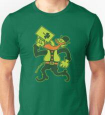 Saint Patrick's Irish Man Drinking Beer Slim Fit T-Shirt