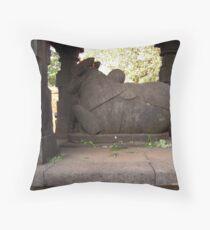 Nandi in an ancient Siva temple, Mahabaleshwar, India Throw Pillow