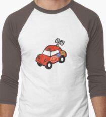 usa california toy car tshirt by rogers bros Men's Baseball ¾ T-Shirt