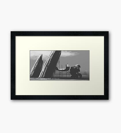 The Future Frontier Framed Print