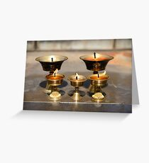 Yak Butter Lamps Greeting Card