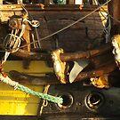 "Wooden sculptures on the bow of ""frigate Shtandart"" by steppeland"