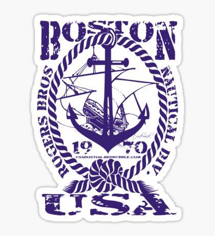 usa boston, ma tshirt by rogers bros Sticker