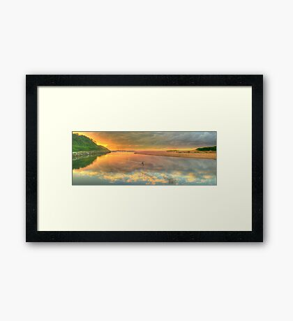 Pelican Dreaming - Narrabeen Lakes Entrance, Sydney Australia - The HDR Experience Framed Print