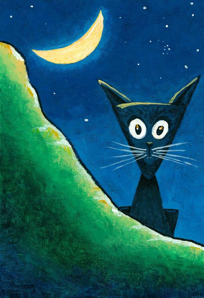 Black Cat, White Cat - Panel 1 by RedLlama