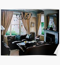 """16 Queen Street"" - oil painting of a Victorian sitting room Poster"