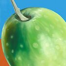 """""""Acetuna Grande"""" - oil painting of an olive by James  Knowles"""