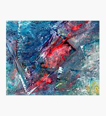 """""""Cityscape Reflections"""" - abstract expressionistic oil painting Photographic Print"""