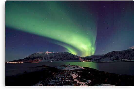 Aurora Borealis - Towards Grytoya island-2 by Frank Olsen