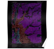 USGS Topo Map Oregon North Bend 280932 1971 24000 Inverted Poster