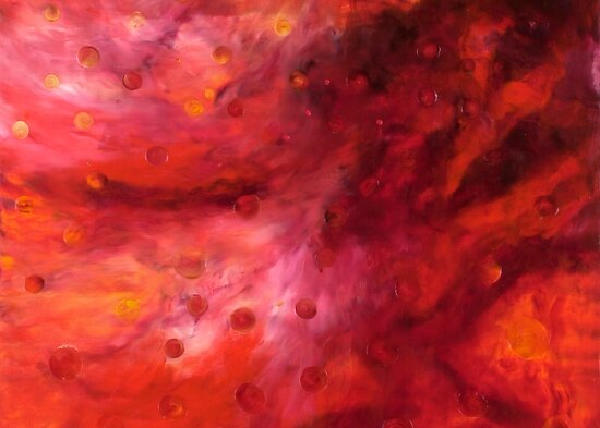 """""""Lifestream"""" - abstract oil painting impression of human life energy by James  Knowles"""